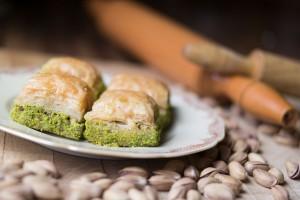 99792245 - turkish dessert baklava with pistachio
